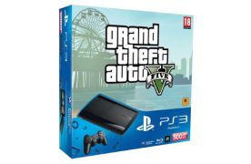 Sony Playstation 3 SUPER SLIM 500 Gb + Игра GTA 5