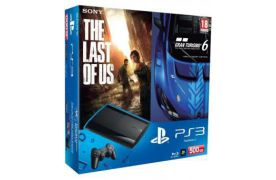 Sony Playstation 3 SUPER SLIM 500 Gb + Игра Gran Turismo 6 + Игра The Last of Us