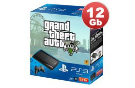 Sony Playstation 3 SUPER SLIM 12 Gb + игра GTA 5