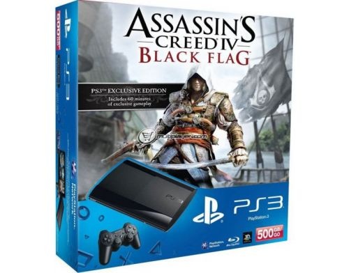 Фото №2 - Sony Playstation 3 SUPER SLIM 500 Gb + Игра Assassins Creed 4