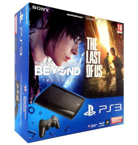 Sony Playstation 3 SUPER SLIM 500 Gb + Игра Beyond: Two Souls + Игра The Last of Us