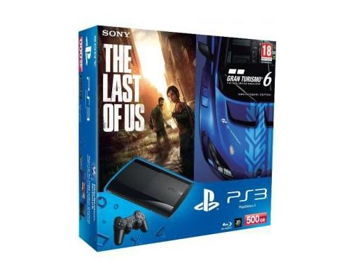 Фото №2 - Sony Playstation 3 SUPER SLIM 500 Gb + Игра Gran Turismo 6 + Игра The Last of Us