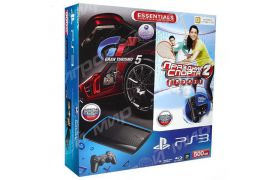 Sony Playstation 3 SUPER SLIM 500 Gb + Move Starter Pack + Игра Праздник Спорта 2 + Игра Gran Turismo 5