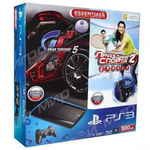 Sony Playstation 3 SUPER SLIM 500 Gb + Move Starter Pack + Игра Gran Turismo 5