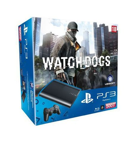 Фото №1 - Sony Playstation 3 SUPER SLIM 500 Gb + Игра Watch Dogs