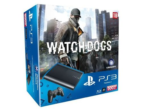 Фото №2 - Sony Playstation 3 SUPER SLIM 500 Gb + Игра Watch Dogs