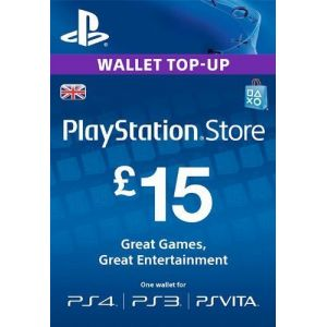 Карта оплаты Playstation Network 15£ UK-регион