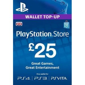 Карта оплаты Playstation Network 25£ UK-регион