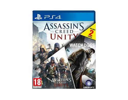 Фото №2 - Assassin's Creed Unity PS4 + Watch Dogs PS4 русские версии