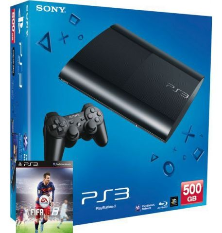 Фото №1 - Sony Playstation 3 SUPER SLIM 500 Gb + Игра FIFA 16