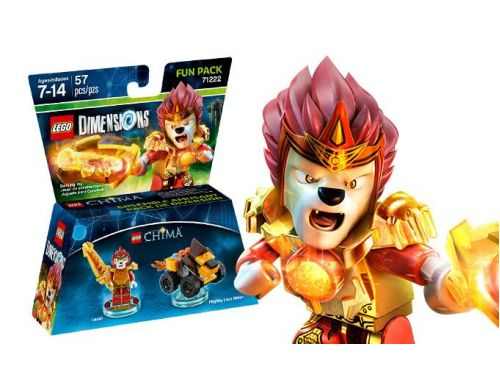 Фото №2 - LEGO Dimensions Lego Legend of Chima (Laval, Mighty Lion Rider) Fun Pack