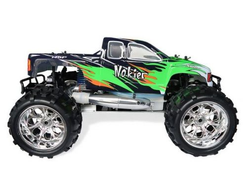 Фото №3 - Автомобиль HSP Racing Nokier Nitro Monster 1:8 RTR 521 мм 4WD 2,4 ГГц (HSP94762 Green)