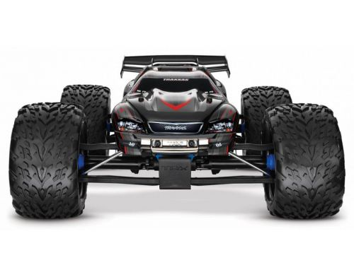 Фото №4 - Автомобиль Traxxas E-Revo Brushless Monster 1:10 RTR 582 мм 4WD 2,4 ГГц (56087-1 Blue)