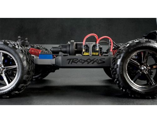 Фото №6 - Автомобиль Traxxas E-Revo Brushless Monster 1:10 RTR 582 мм 4WD 2,4 ГГц (56087-1 Blue)
