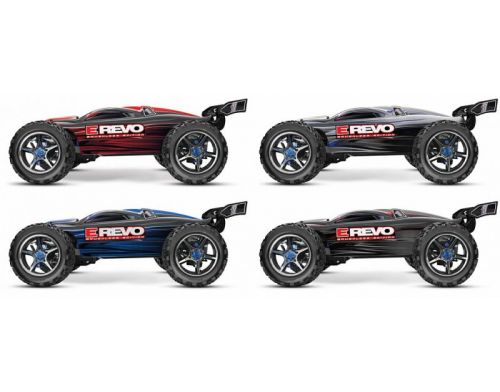 Фото №4 - Автомобиль Traxxas E-Revo Brushless Monster 1:10 RTR 582 мм 4WD 2,4 ГГц (56087-1 Silver)