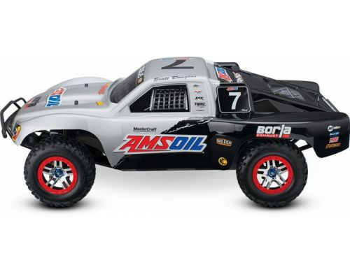 Фото №7 - Автомобиль Traxxas Slash 4x4 Ultimate Scale Brushless Short Course 1:10 RTR 568 мм 4WD 2,4 ГГц (68077-1 Silver)