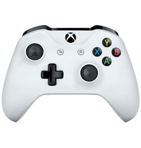 Фото №1 - Microsoft Xbox One S White Wireless Controller