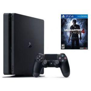 Sony PlayStation 4 SLIM 500gb + Игра Uncharted 4 (Гарантия 18 месяцев)