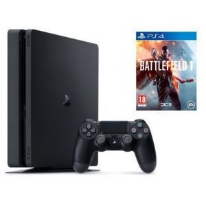 Sony PlayStation 4 SLIM 500gb + Игра Battlefield 1 (Гарантия 18 месяцев)
