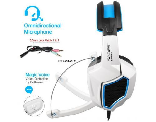Фото №3 - Sades SA920 Wired Stereo Gaming Over Ear Headphones