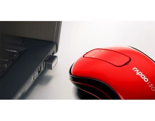 Фото №4 - RAPOO Wireless Touch Mouse red (T120p)