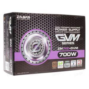 Блок питания ZALMAN ZM700-LE II 700W v.2.3, Fan 12см,78+, Retail