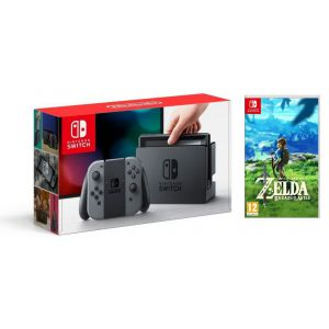 Nintendo Switch Gray + Игра The Legend of Zelda: Breath of the Wild (Гарантия 18 месяцев)