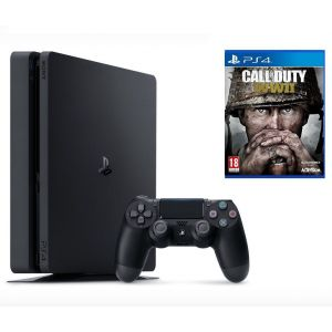 Sony PlayStation 4 SLIM 1 Tb + Игра Call of Duty WWII (Гарантия 18 месяцев)