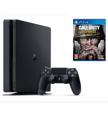 Фото №1 - Sony PlayStation 4 SLIM 500gb + Игра Call of Duty WWII (Гарантия 18 месяцев)