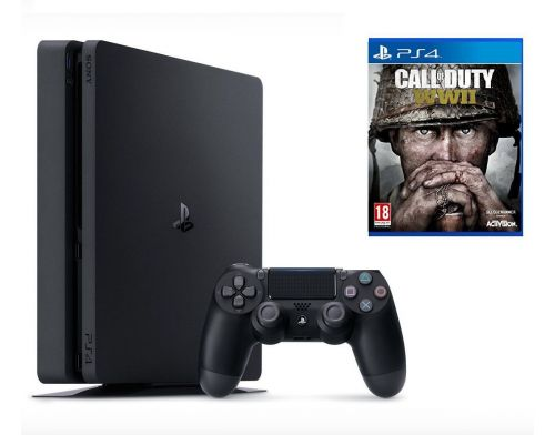 Фото №2 - Sony PlayStation 4 SLIM 500gb + Игра Call of Duty WWII (Гарантия 18 месяцев)