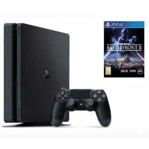 Sony PlayStation 4 SLIM 1 Tb + Игра Star Wars: Battlefront II (Гарантия 18 месяцев)