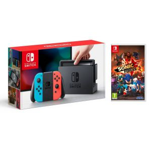 Nintendo Switch Neon blue/red + Игра Sonic Forces (Гарантия 18 месяцев)