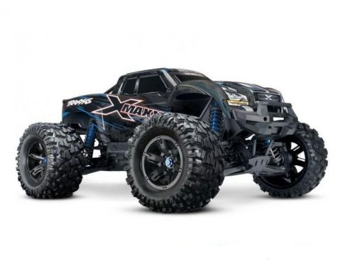 Фото №4 - Автомобиль Traxxas X-Maxx Brushless Monster 8S 1:5 RTR 779 мм 4WD TSM 2,4 ГГц (77086-4 Blue)