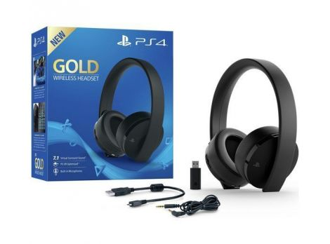 Фото №1 - Sony GOLD PS4 Wireless Headset - Black