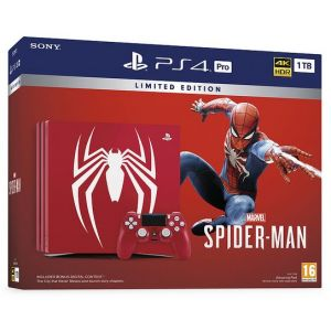 Sony PlayStation 4 Pro 1TB Limited Edition Marvel's Spider-Man Console Bundle - Amazing Red (Гарантия 18 месяцев)