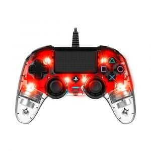 NAKON Wired Illuminated Compact Controller PS4 Red