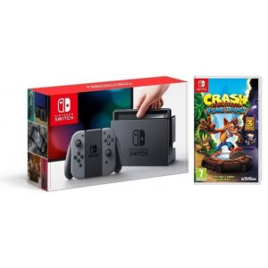 Nintendo Switch Gray + Игра Crash Bandicoot N. Sane Trilogy (Гарантия 18 месяцев)