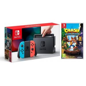 Nintendo Switch Neon blue/red + Игра Crash Bandicoot N. Sane Trilogy (Гарантия 18 месяцев)