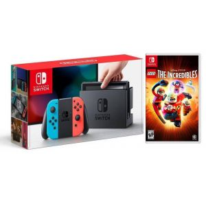 Nintendo Switch Neon blue/red + LEGO The Incredibles (Гарантия 18 месяцев)