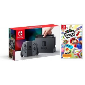 Nintendo Switch Gray + Игра Super Mario Party  (Гарантия 18 месяцев)