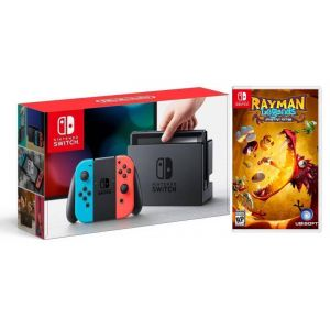 Nintendo Switch Neon blue/red + Игра Rayman Legends: Definitive (Гарантия 18 месяцев)