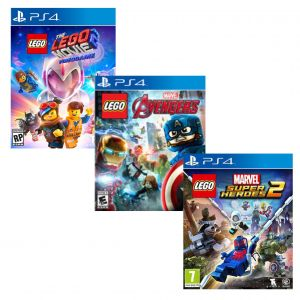 The LEGO Movie 2 Videogame PS4 русские субтитры + LEGO Marvel's Avengers PS4 русская версия + LEGO Marvel Super Heroes 2 PS4 русские субтитры