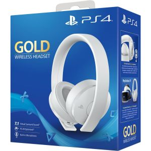 Sony GOLD PS4 Wireless Headset White