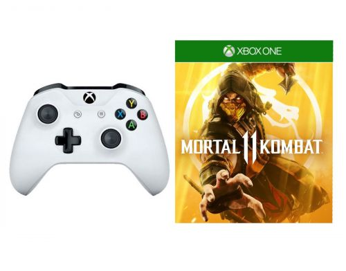 Фото №2 - Microsoft Xbox One S White Wireless Controller + Mortal Kombat 11 Xbox One русская версия